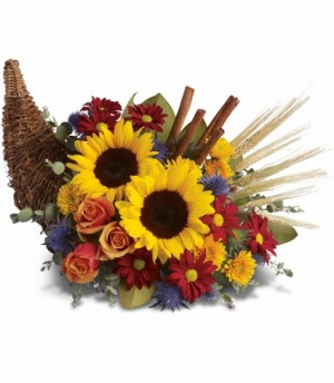 Harvest Home Cornucopia EN-F12 in Teaneck, NJ | ENCKE FLOWERS