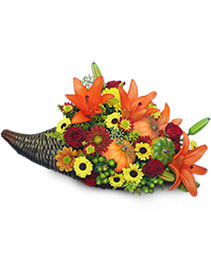 HARVEST HORN OF PLENTY Arrangement