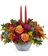 Harvest Jewels Centerpiece All-Around Floral Arrangement