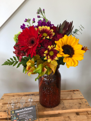 Harvest Jug Arrangement in Weymouth, MA | DIERSCH FLOWERS