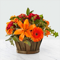 Harvest Memories Basket Floral Arrangement