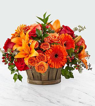 Harvest Memories Basket of Flowers