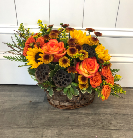 Harvest Moon  Basket Arrangement