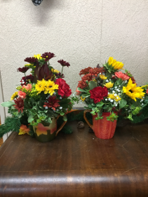 harvest mug arrangement