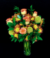 Harvest of Love Fall Floral with High and Magic Roses