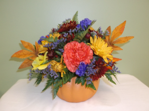 HARVEST PUMPKIN ARRANGEMENT in Springfield, VT | WOODBURY FLORIST