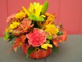 Harvest Pumpkin Arrangement Table Arrangement