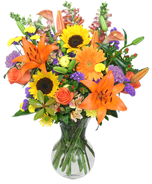 HARVEST RHAPSODY Fresh Flower Vase in Cincinnati, OH | Reading Floral Boutique