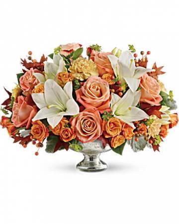 Harvest Shimmer pedestal bowl