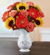 Harvest Spice Bouquet In Keepsake Charlotte Vase