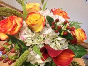 Harvest Splendor Basket or vase in Northport, NY | Hengstenberg's Florist