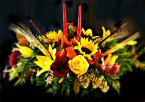 Harvest Sunflower Centerpiece  in Fair Lawn, NJ | DIETCH'S FLORIST