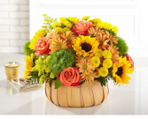 HARVEST SUNFLOWERS BASKET AUTUUM BASKET