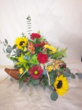 Harvest Time Cornucopia Arrangement