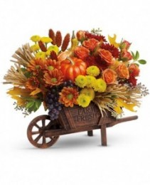Harvest Time Fall Arrangement