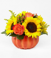 Harvest Traditions Ceramic pumpkin in Claremont, New Hampshire | FLORAL DESIGNS BY LINDA PERRON