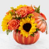 Harvest Traditions Pumpkin Designer Vase