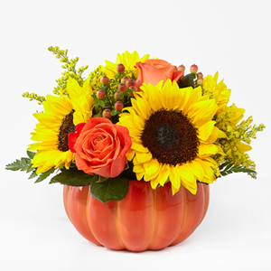 Harvest Traditions Pumpkin Floral Arrangement