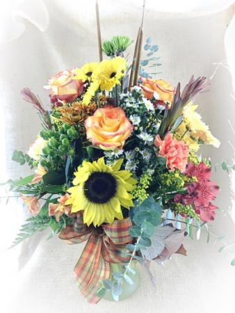 Harvest Vase Autumn arrangement