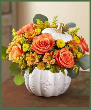 Harvest White Pumpkin Bouquet SOLD OUT in Arlington, TX | Erinn's Creations Florist