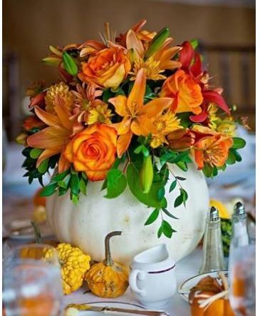 Harvest White Pumpkin Bouquet