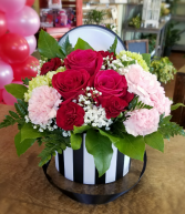 Hat Box of Blooms Valentine's Day