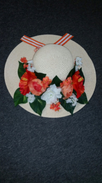 Hat of Flowers Flower Arrangement