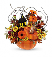 Haunted House Bouquet   T14H100A  Keepsake Arrangement Local only in Elkton, Maryland | FAIR HILL FLORIST