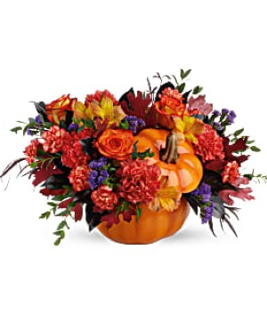 HAUNTINGLY PRETTY PUMPKIN Bouquet in Winnipeg, MB | Ann's Flowers & Gifts