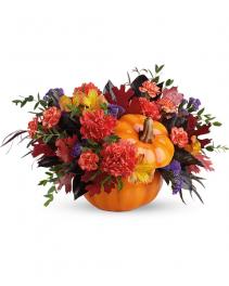 Hauntingly Pretty Pumpkin Bouquet Flower Arrangement