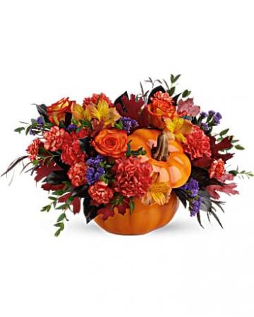 Hauntingly Pretty Pumpkin Keepsake arrangement