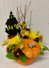 Hauntingly Pretty Pumpkin with Lid