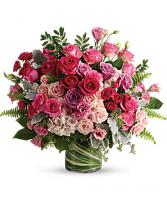 Haute Pink Roses Flower Arrangement