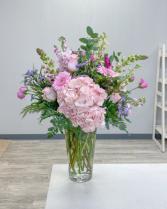 Haute Pink Vase Arrangement