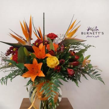 Hawaiian Burst Vase Arrangement
