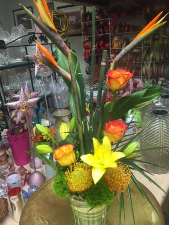 Hawaiian delight tropical Tropical arrangement flowers