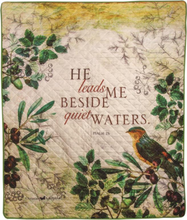 He Leads Me Memorial Quilt/throw Gift