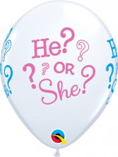 He or She Baby Shower Balloon Balloons