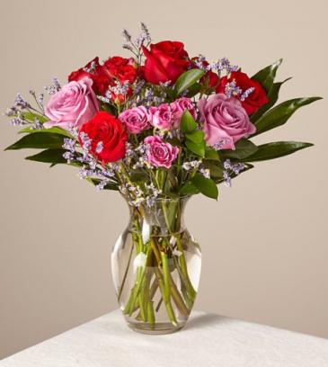 Head Over Heels Bouquet Original With Vase Valentine's
