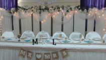 Head table backdrop Wedding Rentals