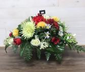 Headstone saddle Silk arrangement