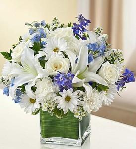 Healing Tears - Blue and White Fresh Arrangement