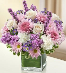 Healing Tears - Lavender and White Fresh Arrangement