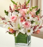 Healing Tears - Pink and White Fresh Arrangement