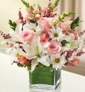 Healing Tears - Pink and White Fresh Arrangement