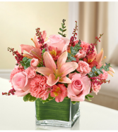 Healing Tears - All Pink Sympathy Arrangement