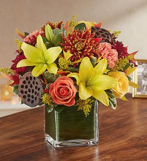 Healing Tears™ Fall Arrangement in Croton On Hudson, NY | Cooke's Little Shoppe Of Flowers