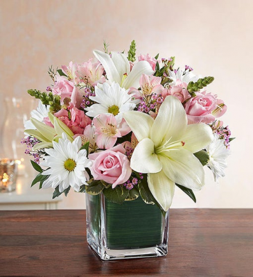 Healing Tears - Pink & White Sympathy Arrangements