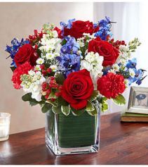Healing Tears™ Red White and Blue Arrangement