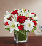 Healing Tears - Red & White Sympathy Arrangements
